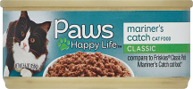 Paws 5.5 oz. Select Varieties Cat Food product image.