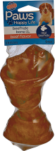 Paws 5 ct. Pork Twist Rollsor 6 in. Rawhide Bones product image.