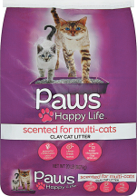 Paws 20 lb. Select Varieties Cat Litter product image.