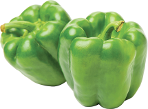 Ripe Organic Hass Avocados Or Green Bell Peppers product image.