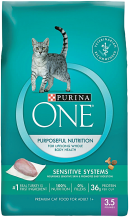Purina One 3.5 lb. Cat Food product image.