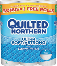 Quilted Northern 6-12 ct. Select Varieties Bath Tissue product image.