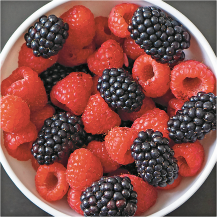 6 oz. Plump Juicy Raspberries or Blackberries product image.