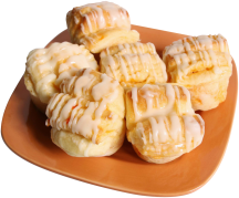 12 ct. Orange or Raspberry Butterflake Rolls product image.