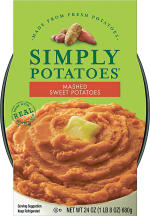 Simply 24 oz. Select Varieties Mashed Potatoes product image.