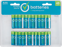 Simply Done 48 ct. AA or AAA Batteries product image.