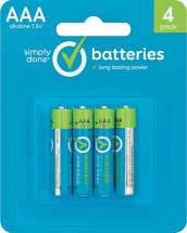 Simply Done 1-4 ct. Select Varieties Batteries product image.