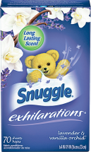 Snuggle 20-80 ct. or 31.7-32 oz. Fabric Softener, All 18-80 ct. or 46.5-50 oz. Select Varieties Detergent or Softener product image.