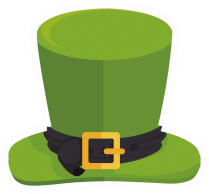 St Patty's Sequin Top Hat product image.