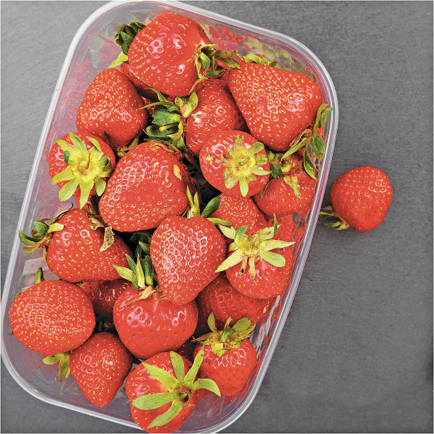 1 lb. Fresh ORGANIC Strawberries product image.