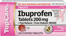 Top Care 100 ct. Tablets or Caplets Ibuprofen product image.