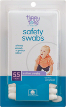 Tippy Toes 48 ct. Safety Swabs or Nasal Aspirator Baby Products product image.