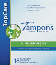 Top Care 14-24 ct. Select Varieties Feminine Care product image.