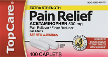 Top Care 100 ct. Pain Reliever product image.