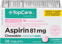 Aspirin 81 mg product image.