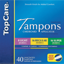Top Care 14-40 ct. Select Varieties Feminine Care product image.