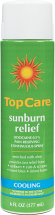 Top Care 6 oz. Burn Relief or 16 oz. After Sun Care Sun Burn Relief product image.