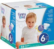 Tippy Toes 54-84 ct. Select Varieties Diapers product image.
