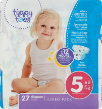 Tippy Toes 23-50 ct. Select Varieties Diapers product image.