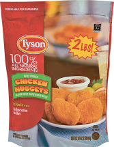 Tyson 25-32 oz. Select Varieties Breaded Chicken product image.