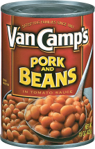 Van Camp's  15 oz. Select Varieties Pork & Beans product image.
