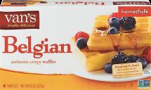 Van's 8 oz. Belgian Waffles product image.