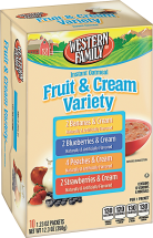 Western Family 8-12 ct. Oatmealor 11-18 oz. Select Varieties Cereal product image.