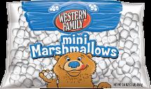 Western Family16 oz. Mini or Original Marshmallows product image.