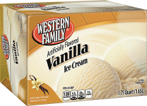 Western Family  56 oz. Select Varieties Ice Cream product image.