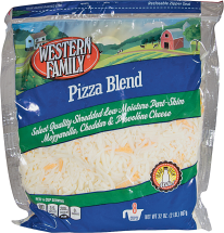 Western Family 32 oz. Select Varieties Shredded Cheese product image.