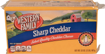 Western Family 32 oz. Select Varieties BlockCheese product image.