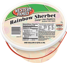 Western Family 4 qt. Select Varieties Ice Cream or Sherbet product image.