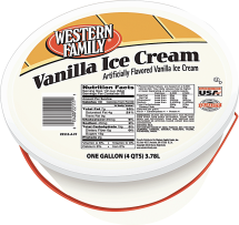 Food Club 24 ct. Ice Cream Sandwiches or Western Family 4 qt. Ice Cream or Sherbet product image.