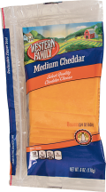 Western Family  6 oz. Select Varieties Cheese Slices product image.