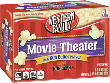Western Family 3 ct. Select Varieties Popcorn product image.