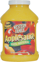 Western Family 46-48 oz. Select Varieties Applesauce product image.