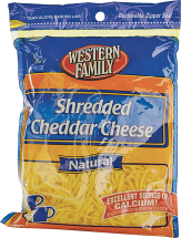 Western Family 7-8 oz. Shredded Cheese product image.