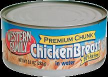 Western Family 10 oz. Premium Chunk White Chicken product image.