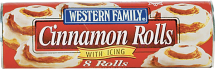 Western Family 8-13.9 oz. Select Varieties Roll Dough or 32 oz. Orange Juice product image.