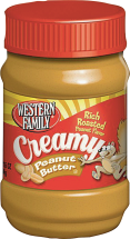 Western Family  16 oz. Select Varieties Peanut Butter product image.