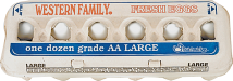 Western Family Grade AA Dozen Large Eggs product image.