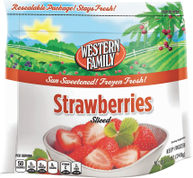 Western Family 12-16 oz. Select Varieties Frozen Fruit product image.