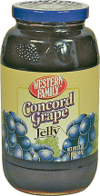 Western Family 32 oz. Concord Grape Jelly or 16 oz. Select Varieties Peanut Butter product image.