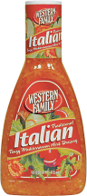 Western Family 16 oz. Select Varieties Salad Dressing product image.