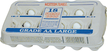 Western Family 18 pk. Grade AA Large Eggs product image.