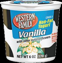 Western Family  6 oz. Select Varieties Yogurt product image.