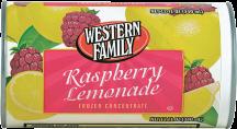 Western Family 12 oz. Select Varieties Lemonade or Limeade product image.
