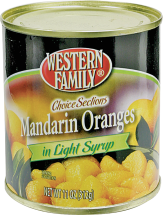 Western Family 10.5-11 oz. Select Varieties Mandarin Oranges product image.
