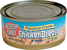 Western Family 5 oz. Premium Chunk Chicken Breast product image.