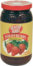 Western Family 18 oz. Select Varieties Stawberry Jelly or Preserves product image.